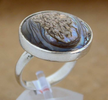Silber Ring mit Abalone