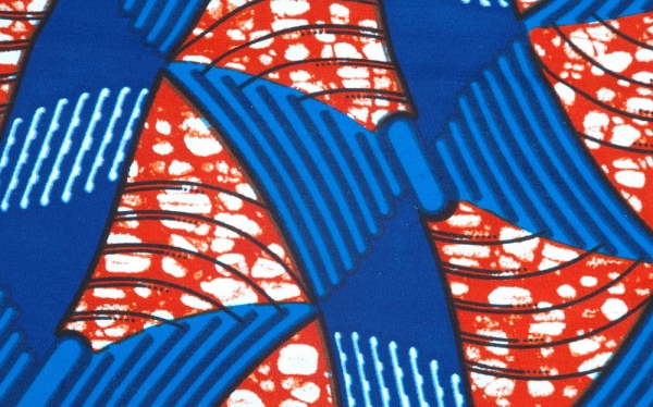 Afrikanischer Stoff - Waxprint - Traditionelles Design